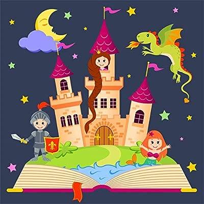 EdCott 6x6ft Dibujos Animados Niñas Niños Niños Cumpleaños ...