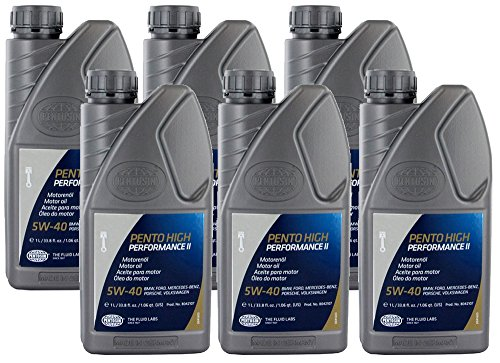 Pentosin 5W40 Synthetic High Performance Motor Oil (1 Liter) - 6 Pack (Engine Oil Pentosin)