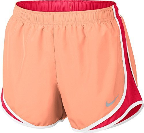 Nike Womens Tempo Fitness Running Shorts Orange M