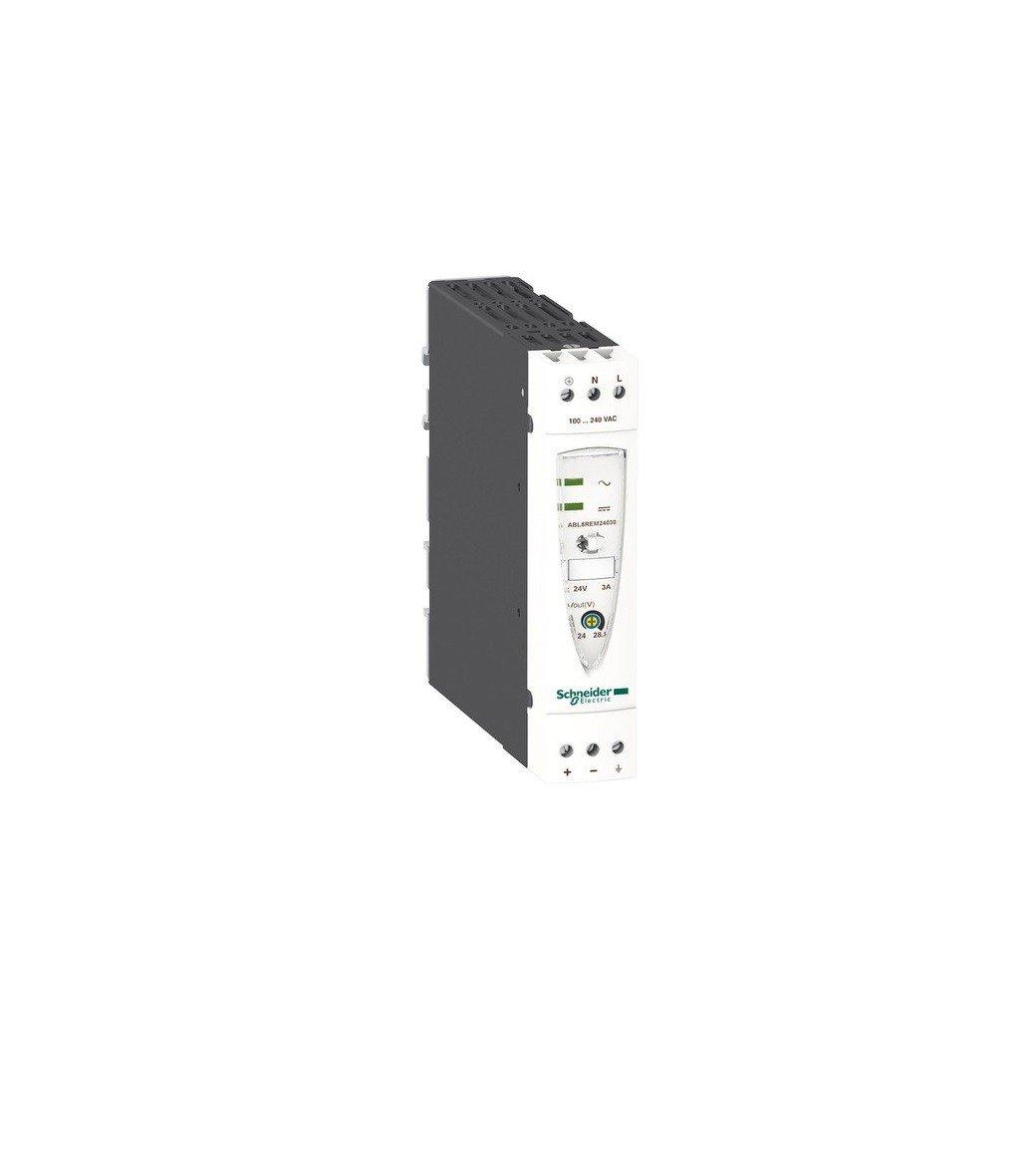 Schneider Electric ABL8REM24030 Fuente De Alim. Conmutada Modular, 1 O 2 Fases, 100-240 V Ca, 24 V, 3 A