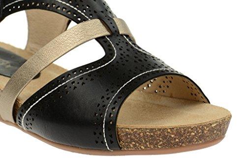 Pikolinos Pikolinos Rennes Keil Sandale in schwarz - 931-7471A - Sandalias de vestir para mujer negro - negro