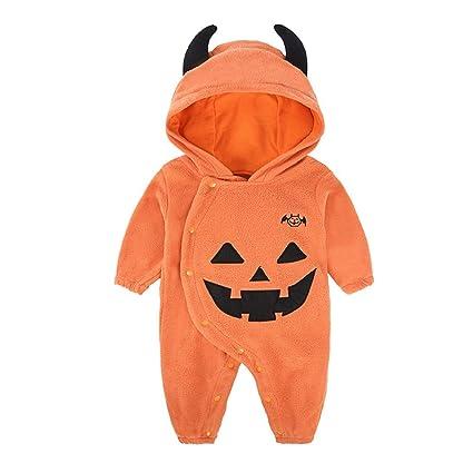 QAR Ropa De Bebé Ropa De Bebé De Los Niños De Halloween Batas De Calabaza De