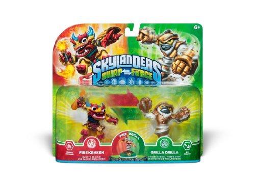 Skylanders - Swap Force Double Pack: Grilla Drilla + Fire Kraken (Skylander Force)