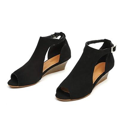 2b4714ed40529 Amazon.com: ❤ Mealeaf ❤ Women's Shoes Platform Wedge Sandals ...