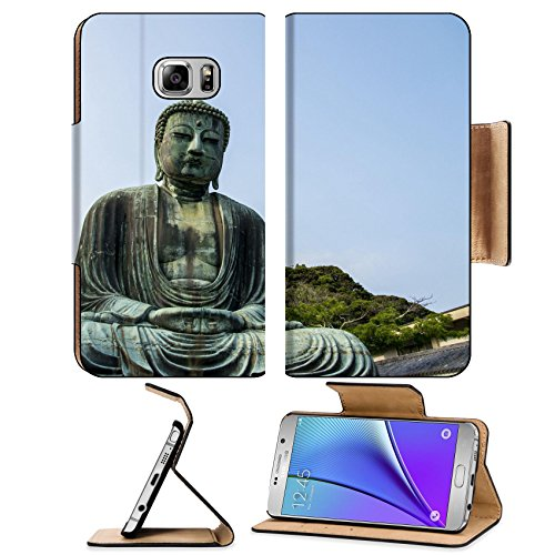 Luxlady Premium Samsung Galaxy Note 5 Flip Pu Leather Wallet Case Note5 IMAGE ID: 23167082 Big buddha statue in Kamakura Japan