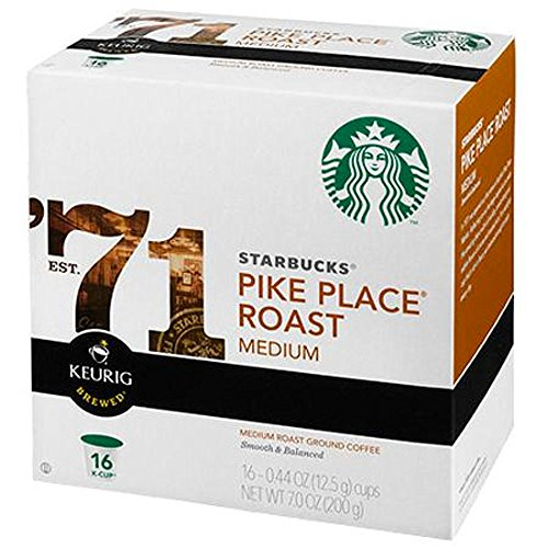 Starbucks® Pike Place® Roast K-Cup®Packs, 96 count, Premium Coffee Blend, Best Gourmet Coffee, Specialty Roasted Beans Espressos