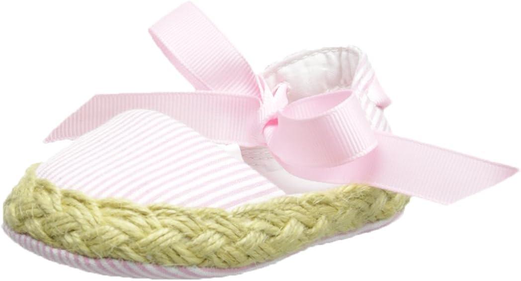 Mud Pie Baby Lil' Chick Seersucker Espadrille Shoes, Pink, 0 - 6 Months