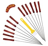 Best A&T Designs Seafoods - 12pc BBQ Skewers set,Stainless Steel Metal Barbecue Kabob Review