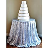 NSC Festive Party Tablecloths Wedding Sequins Sign In Dessert Table Decoration Tablecloth Hotel Layout Set Up ( Size : 300 )