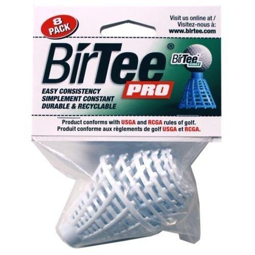 BirTee Pro Consistent Height 1/4''-2'' White Specialty Tee (8 Pack) by BirTee