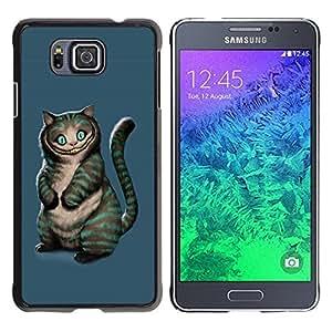 Be Good Phone Accessory // Dura Cáscara cubierta Protectora Caso Carcasa Funda de Protección para Samsung GALAXY ALPHA G850 // Evil Cat