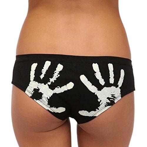 Price comparison product image Women Funny Underwear, Witspace Ladies Cute Print Briefs Underwear Cotton Panties (Palm, M)