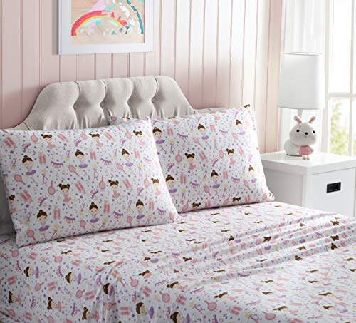 Kute Kids Super Soft Sheet Set – Ballerina – Includes Pillowcase(s) Available in Twin & Full Size ()