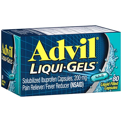 - Advil Liqui-Gels (80 Count) Pain Reliever/Fever Reducer Liquid Filled Capsule, 200mg Ibuprofen, Temporary Pain Relief