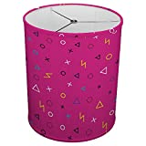 Hardback Linen Drum Cylinder Lamp Shade 8'' x 8'' x11'' Spider Construction [ Play Console Gaming ]
