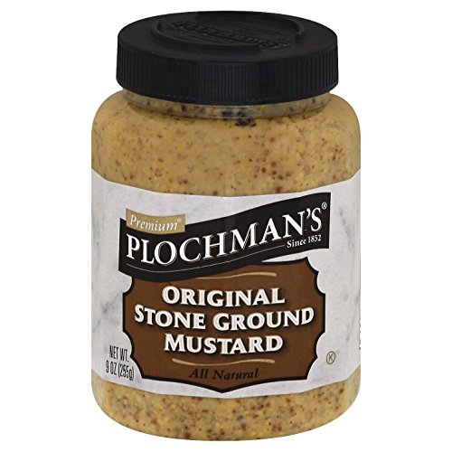 Plochman's Natural Stone Ground Mustard, 9-Ounce Jars (Pack of - Coarse Ground Mustard