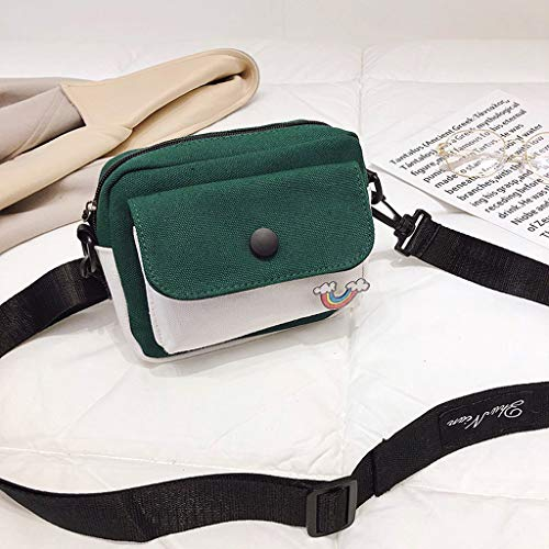 DDKK bags Hot New Zipper Shoulder Bag-Women Cute Canvas Messenger Bag Lady Girl Travel Student School Crossbody Bag-Multiple Internal Pockets in Pretty Color Combination-Sling Crossbody Bag
