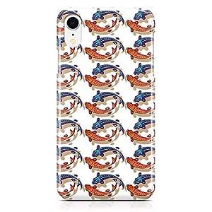 Loud Universe Phone Case Fits iPhone XR Wrap around Edges Asian Culture Phone Case Fish 3D iPhone XR Cover
