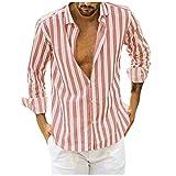 Mens Hawaiin Shirt Button Up Long Sleeve Casual