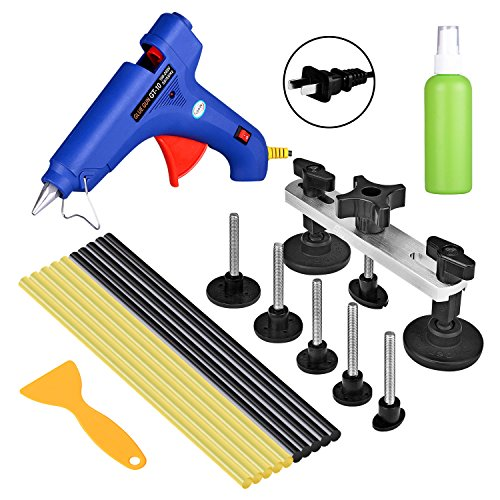 Price comparison product image FLY5D 11Pcs Car Body dent Repair Tool Paintless Dent Removal Repair Glue Gun Puller Bridge Glue Sticks