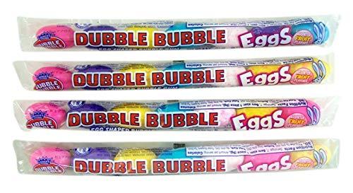Dubble Bubble Gum Candy Tubes, 2.1 oz, Pack of 4