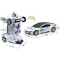 idreamtrader Se Déforme de Voiture Robot avec lumière et Son Concept de Transformer Jouet pour Enfants Cadeau