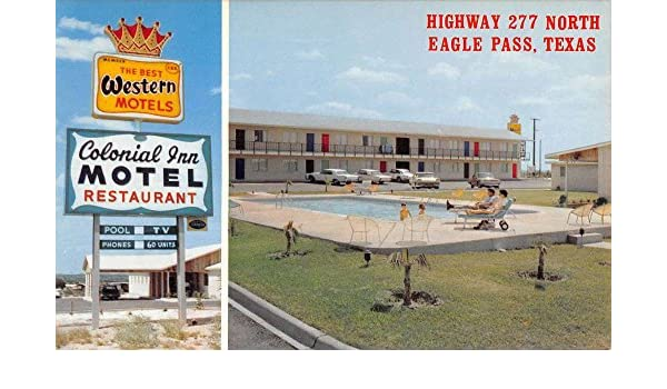 Eagle Pass Texas Colonial Inn Motel Multiview Vintage Postcard K42250 at Amazons Entertainment Collectibles Store
