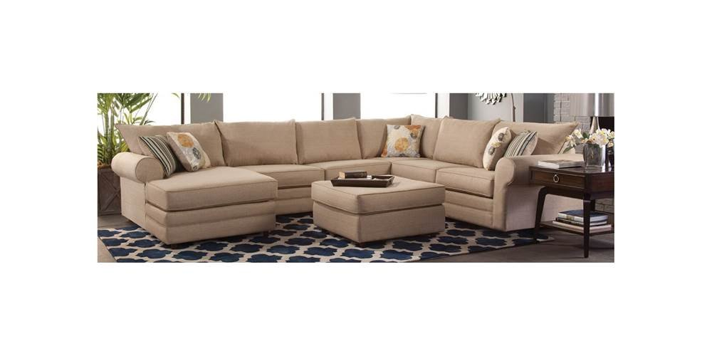 4-Pc Sectional Sofa Set in Linen