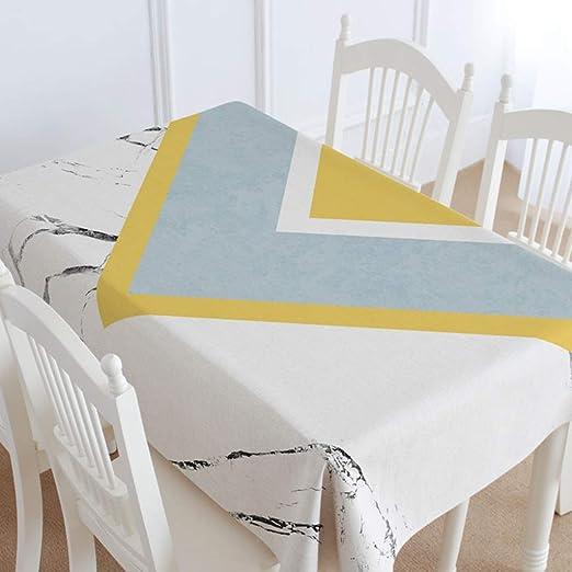 GJH-Manteles- El algodón del paño de Lino Tabla de Cocina Mesa de Comedor, Rectangular Mantel Cubierta Manteles (Color : D, tamaño : 43x67inch): Amazon.es: Hogar