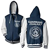 chris pratt merchandise - Officially Licensed Guardians Of The Galaxy Varsity Zip Hoodie (White/Navy), X-Large