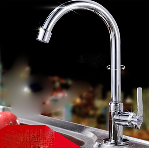 AWXJX Washroom Sink Mixer Tap copper Single handle Single hole chrome Cold alone kitchen Sit Washbasin