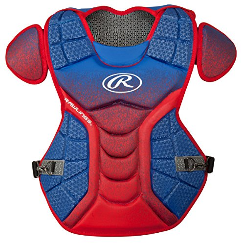 Rawlings Sporting Goods Catchers Velo Series Intermediate Chest Protector, 15.5'', Royal/Scarlet by Rawlings
