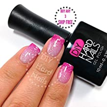 Gel Nail Polish - DIY Hard Nails - Shellac Nail Polish - Glamorous Color Changing, Glitters, and Shimmering Gel Nail Polish Colors - BONUS: FREE Gel Nail Salon E-BOOK Guide with Every Purchase (Pink Frost)