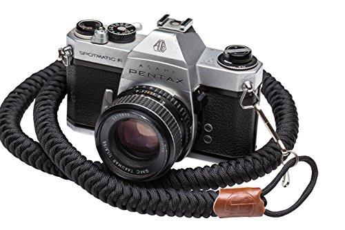 Neck Lanyards Cords Straps (Helix Camera Strap - DSLR Camera Neck Straps 34 Inches - Paracord Design - 100% Handmade, Black)