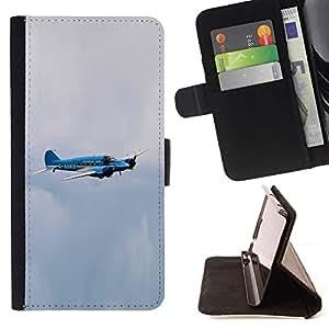 For Apple iPhone 5C Case , avro enson Avro Anson- la tarjeta de Crédito Slots PU Funda de cuero Monedero caso cubierta de piel
