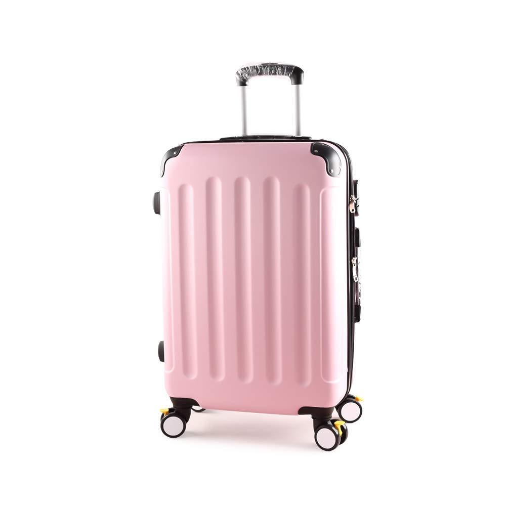 XF ピンクのトロリーケースパスワードスーツケーススーツケース荷物用男性と女性大容量スーツケース学生ボックスブレーキホイール付きエクステンション トラベルバッグスーツケース (Size : 41cmX24cmX65m) B07T4JT35V  41cmX24cmX65m