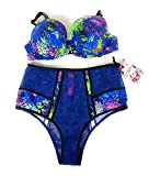 Victoria's Secret Mary Katrantzou 34D Medium Bra Set Bundle of 2: 1 34D Lined Demi Bra and Medium Panties