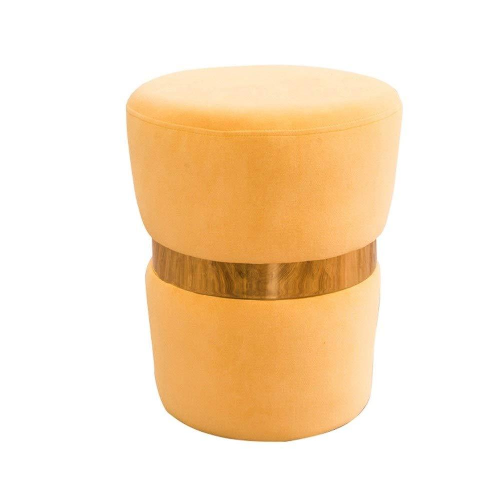 la mejor selección de amarillo amarillo amarillo Soporte Colgante para relajar piernas y pies.Baño de casa Compatible sofá Escritorio de Lado Reposapiés, Latón Moderno Decoración Ronda Terciopelo Suave Táctil Asiento del Asiento Maquillaje Toca  ganancia cero