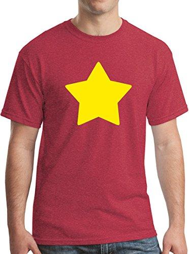 Universe Star T-Shirt Cartoon Funny Animated Adventure Tee Heather Red S