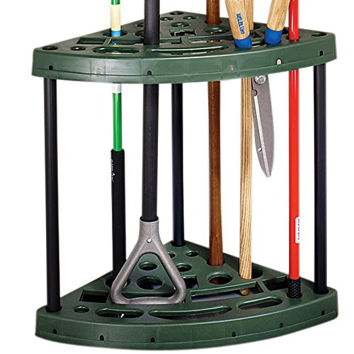 Cr6hdl Heavy Duty Lucite Corner Rack: MS Home Easy Assembly Corner Design Plastic Garden Tool