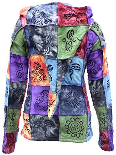 Little Kathmandu algodón Tie Dye Largo Pixie capucha sudadera para mujer,