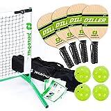 Pickle-Ball Inc. Pickleball Diller Tournament Net Set (Set Includes Metal Frame + Net + 4 paddles + 4 balls + Rules Sheet in Carry Bag)