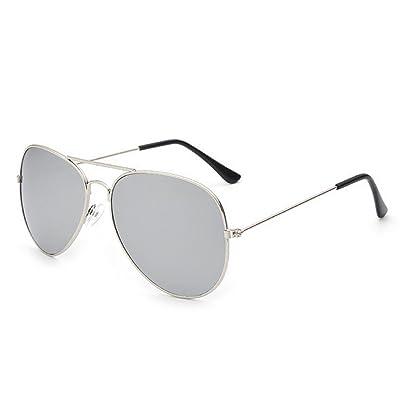 d3fd698236 (Plata Lentes de plata) Gafas de sol para los hombres de las mujeres unisex