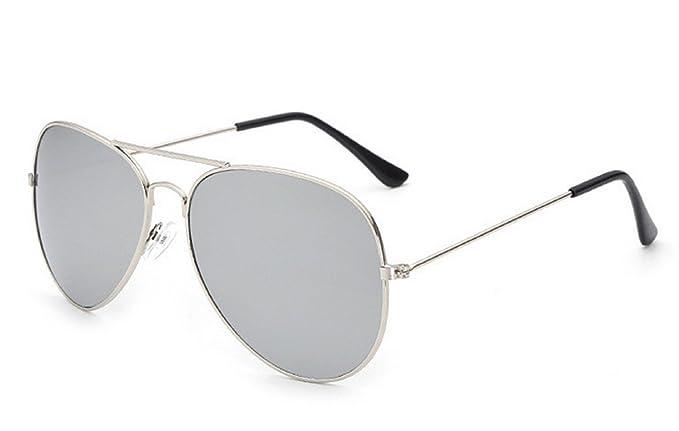 d5901516a0ef (Montatura argento-Lente Argento)Occhiali Da Sole Per Uomo Donna Unisex  Modello Aviator Specchio Goccia Classico: Amazon.it: Abbigliamento