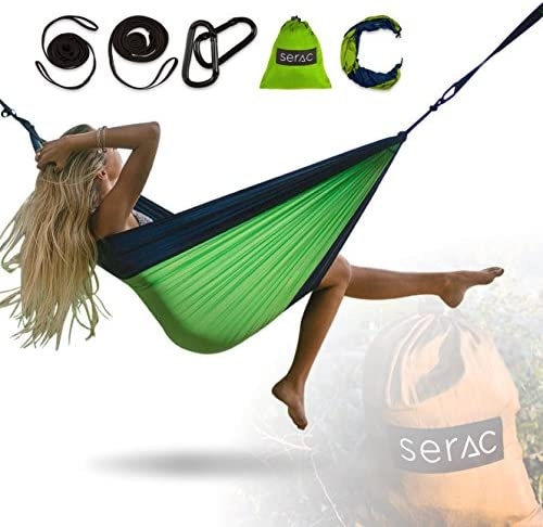 Serac Clásico único Camping Hamaca Portable con Sistema de ...