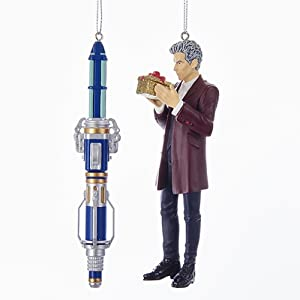 Kurt Adler Doctor WHO 12TH Doctor and Sonic Screwdriver - 2 Piece Set