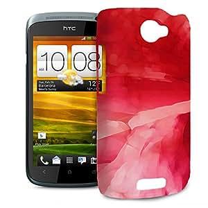 Rojo Abstract Watercolor teléfono Carcasa rígida para HTC One M7Mini Desire Evo y más–HTC One S