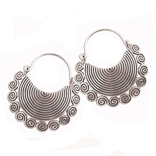 Earring Pure Silver Thai Karen Hilltribe Design