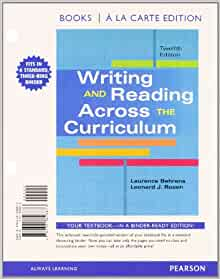 Instructor's Manual (Download only) for Writing and Reading Across the Curriculum, 13th Edition