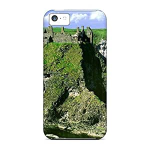Anti-scratch And Shatterproof Ancient Castle Ruins On The Cliffs Phone Case For Iphone 6 plus (5.5)/ High Quality Tpu Case